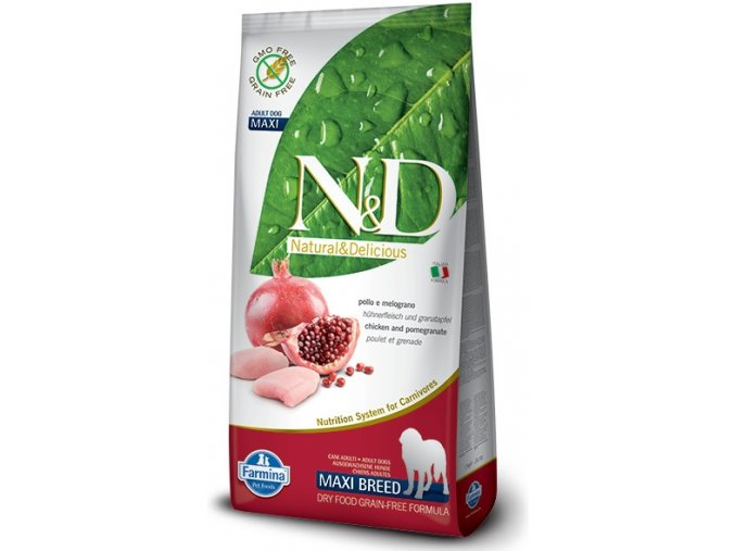 N&D Grain Free DOG Adult Maxi Chicken&Pomegranate granule