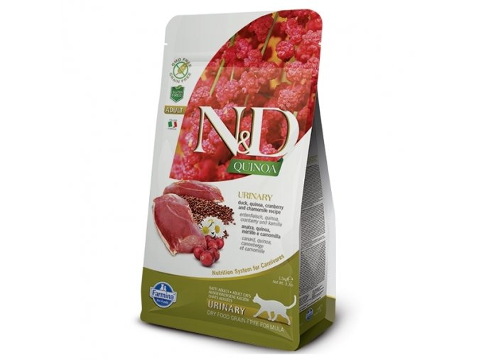 N&D GF Quinoa CAT Urinary Duck & Cranberry