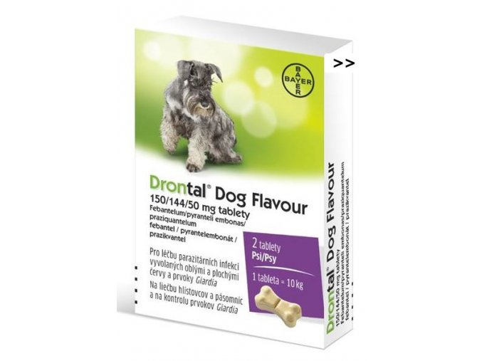 Drontal Dog Flavour 15014450 mg a.u.v. tbl 2