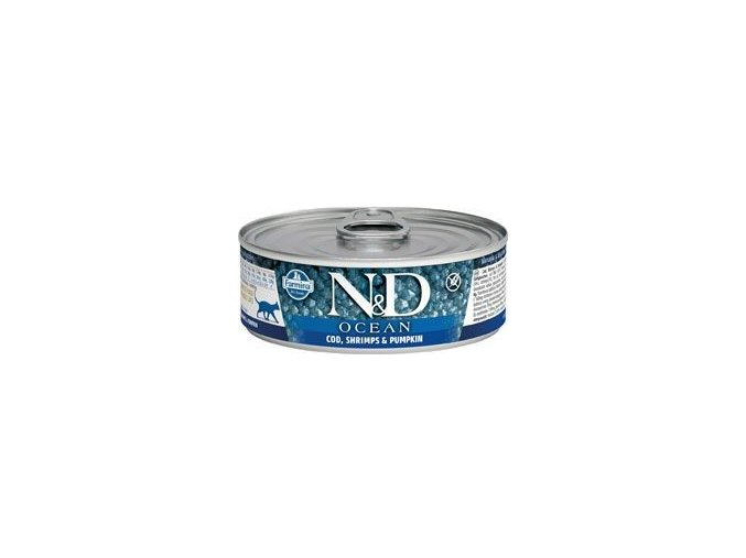 N&D CAT OCEAN Adult Tuna & Cod & Shrimp & Pumpkin 80g