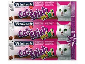 Vitakraft Stick mini cat drůbež + játra 18 g, 3 ks