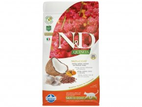 N&D GF Quinoa CAT Skin&Coat Herring & Coconut