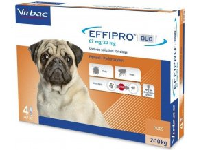 Effipro DUO Dog S (2 10kg) 6720 mg, 4x0,67ml