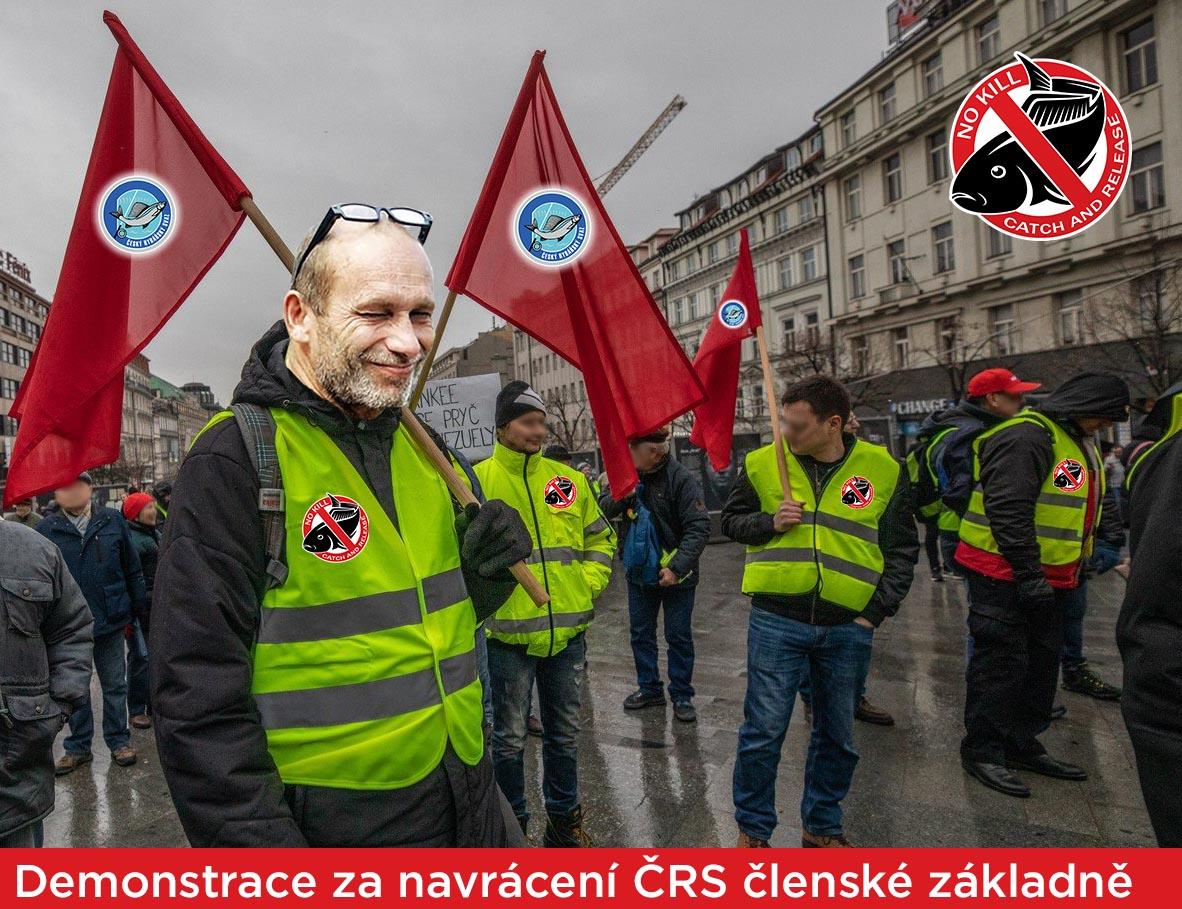 Rozhovory členů k demonstraci za navrácení ČRS členské základně