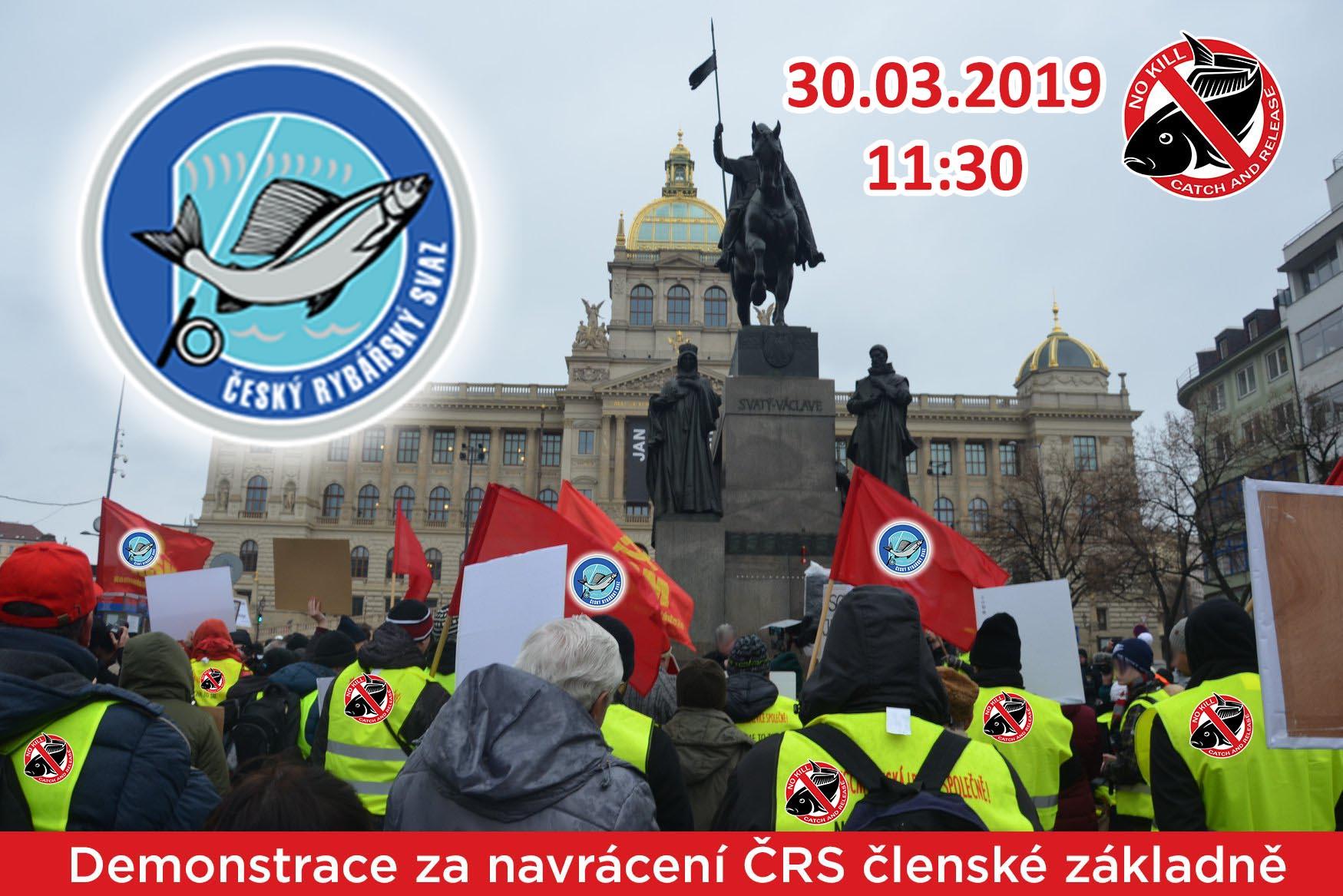 Oznámení demonstrace za navrácení ČRS členské základně