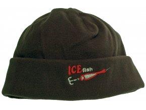 000434 čepice flesová černá ICE fish