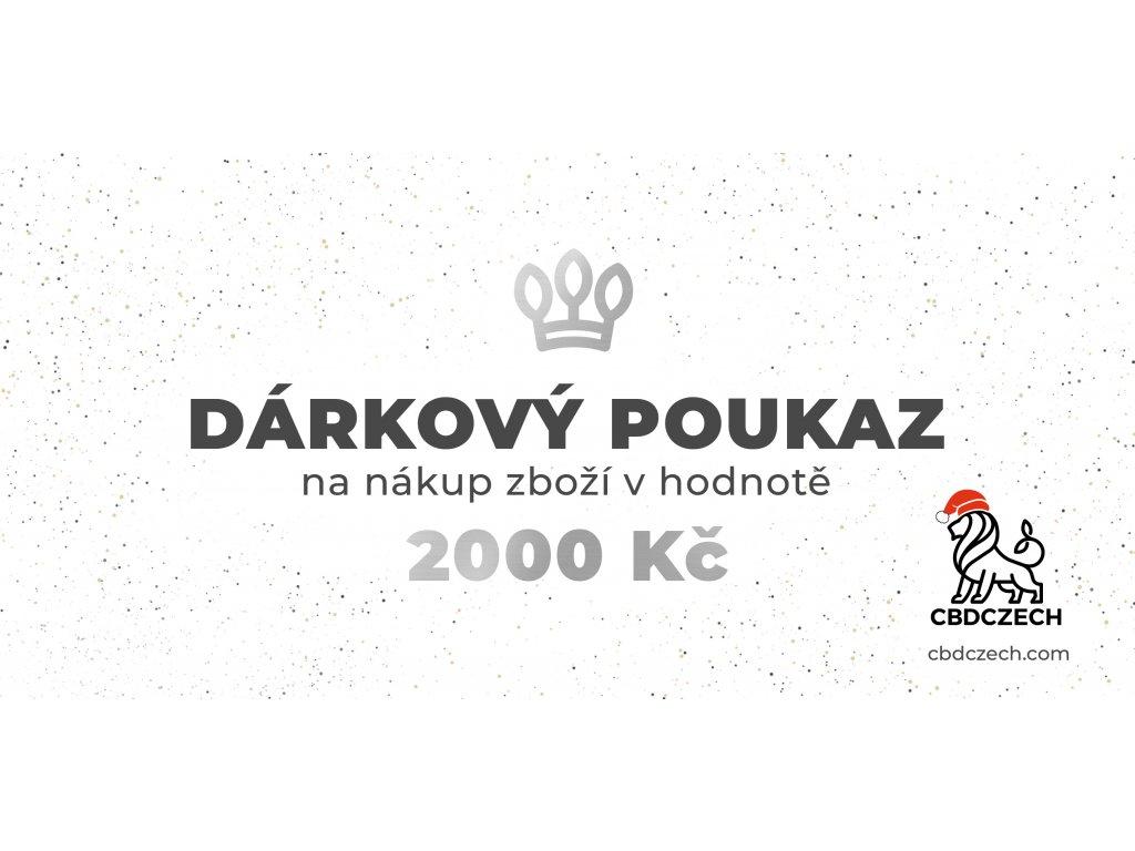 Dárkový poukaz v hodnotě 2000 CZK