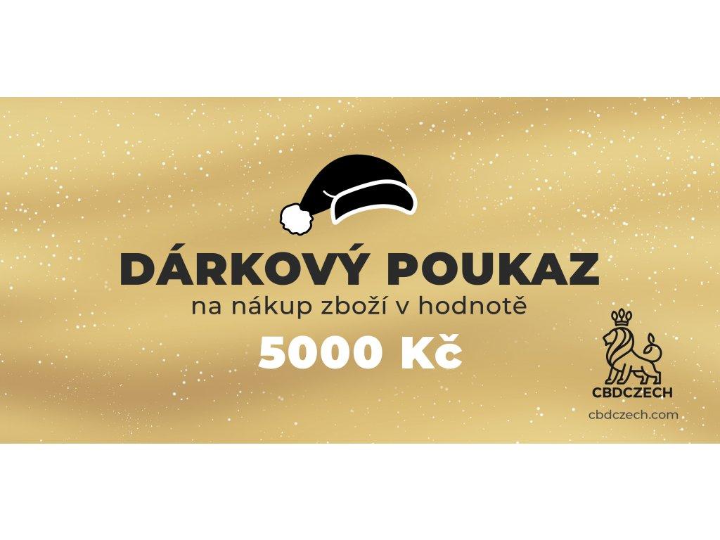Dárkový poukaz v hodnotě 5000 CZK