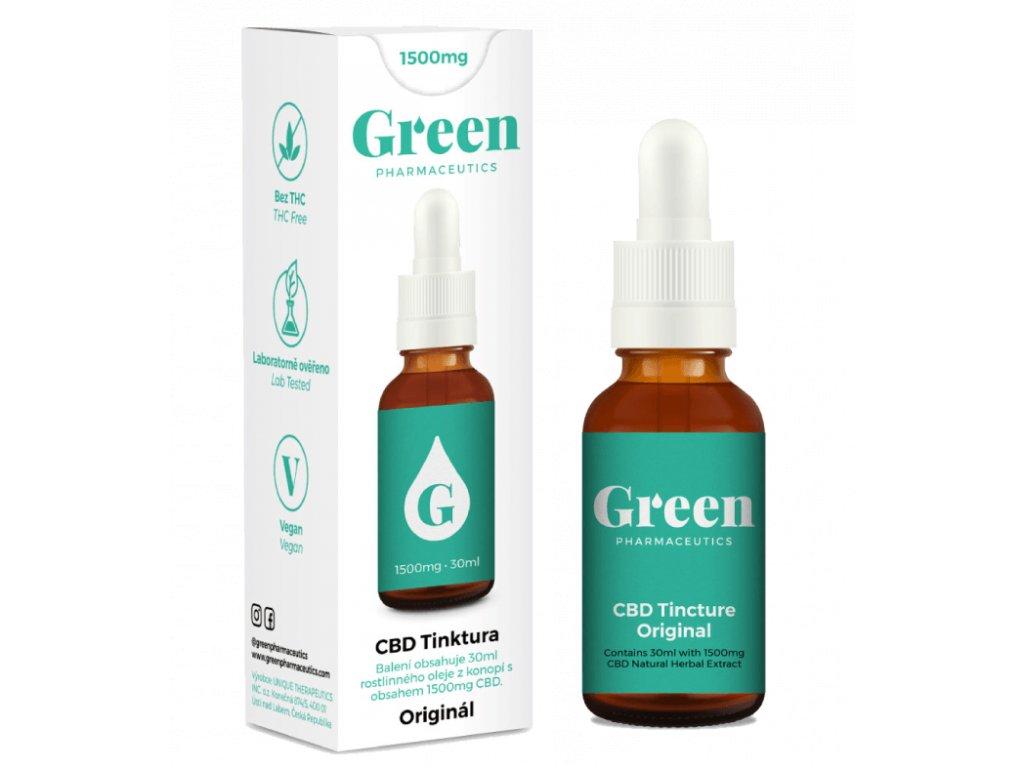 Green Pharma CBD 1500mg různé příchutě