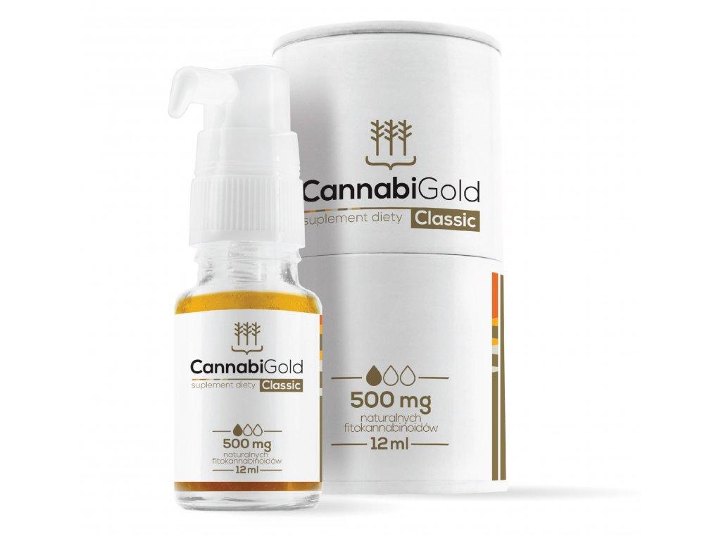CannabiGold CLASSIC - CBD konopný olej, 500 mg