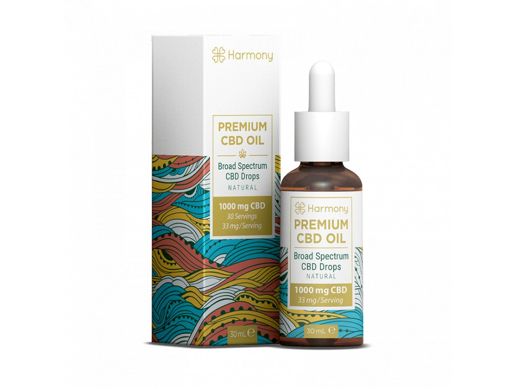 Harmony CBD Oil 1000 mg BOXbottle Iso