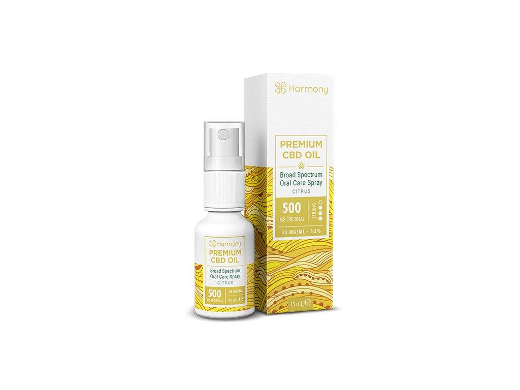 Harmony - CBD olej ve spreji - citrónový 500 mg CBD
