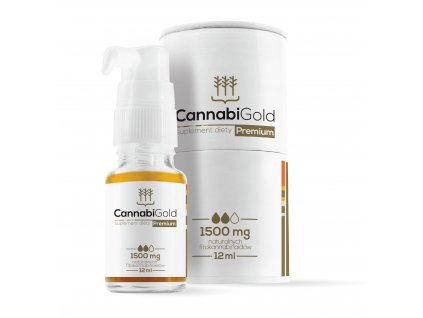 CannabiGold Premium - CBD konopný olej, 1500 mg