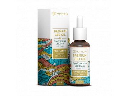 Harmony CBD - Prémiový CBD olej, 1000 mg