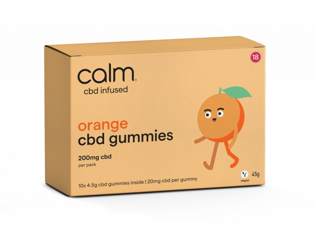 CBD želé - CBD gummies - pomeranč s CBD - orange edibles CBD