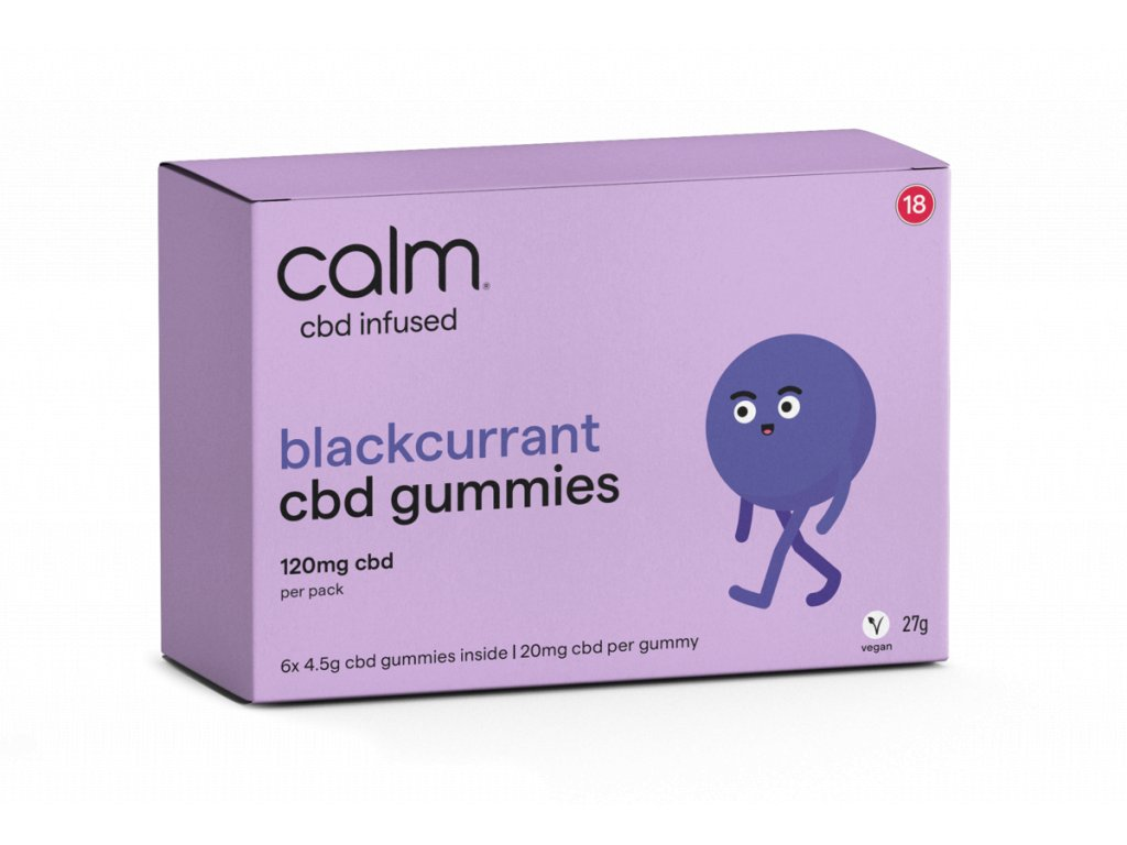 CBD želé - CBD gummies - černý rybíz s CBD - black currant edibles