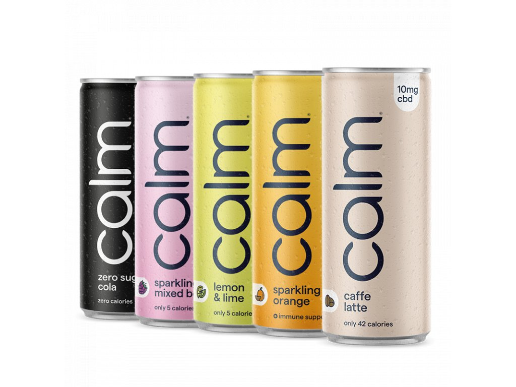 CBD drinky - testovací balení Calm Drinks