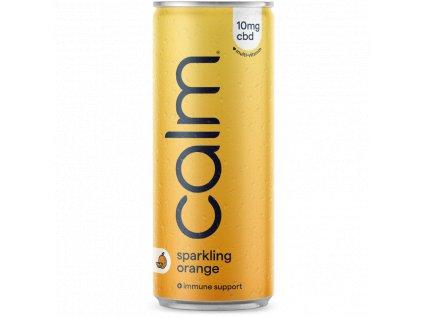CBD drink - CBD nápoj - Calm Drinks - pomeranč a multivitamín - orange Calm