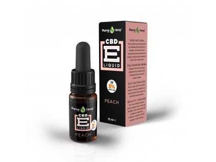 cbd e liquid 5 peach
