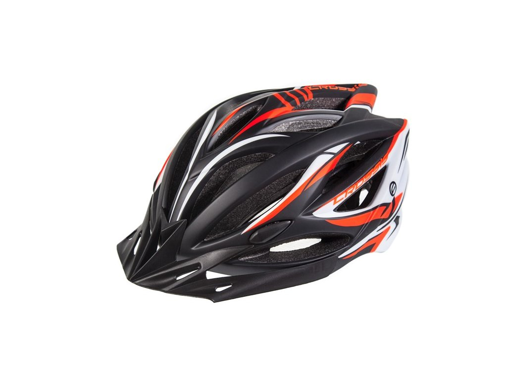 Cyklistická přilba CRUSSIS černo-oranžovo-bílá