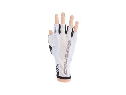 CRUSSIS cyklo rukavice černé/bílá