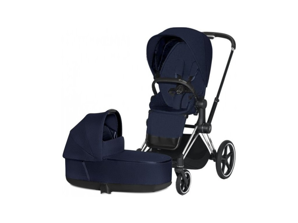 Cybex Priam podvozek, Seat Pack Plus, Lux Carry Cot 2021 - Midnight Blue