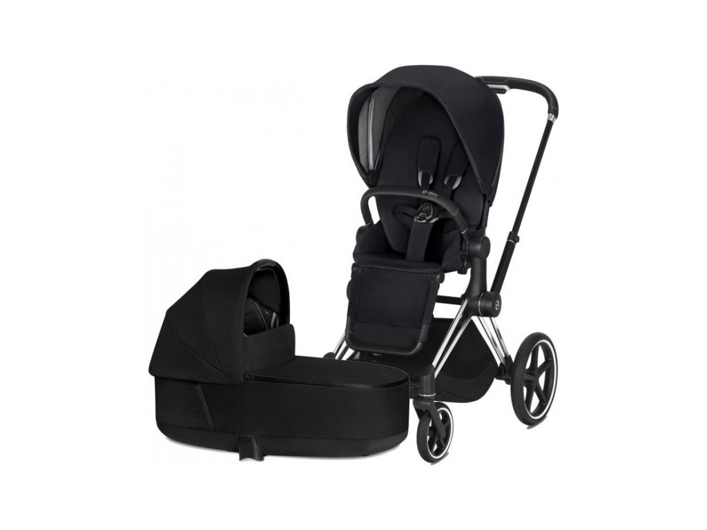 Cybex Priam podvozek, Seat Pack Plus, Lux Carry Cot 2021 - Stardust Black