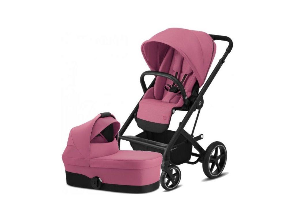 Cybex Balios S Lux BLACK, Carry Cot S 2021 - Magnolia Pink