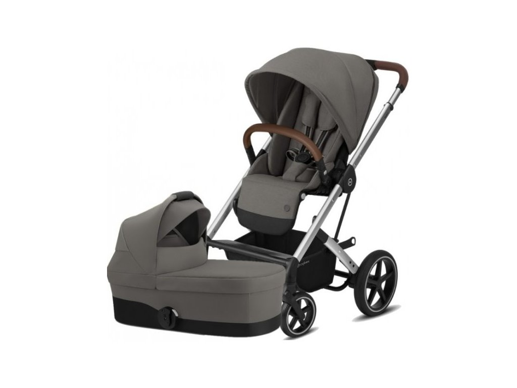 Cybex Balios S Lux Silver, Carry cot S 2021 - Soho Grey