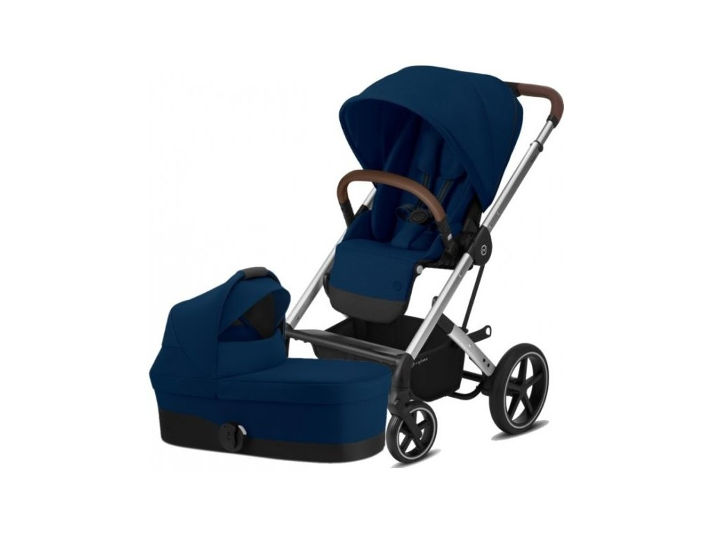 Cybex Balios S Lux Silver, Carry cot S 2021 - Navy Blue