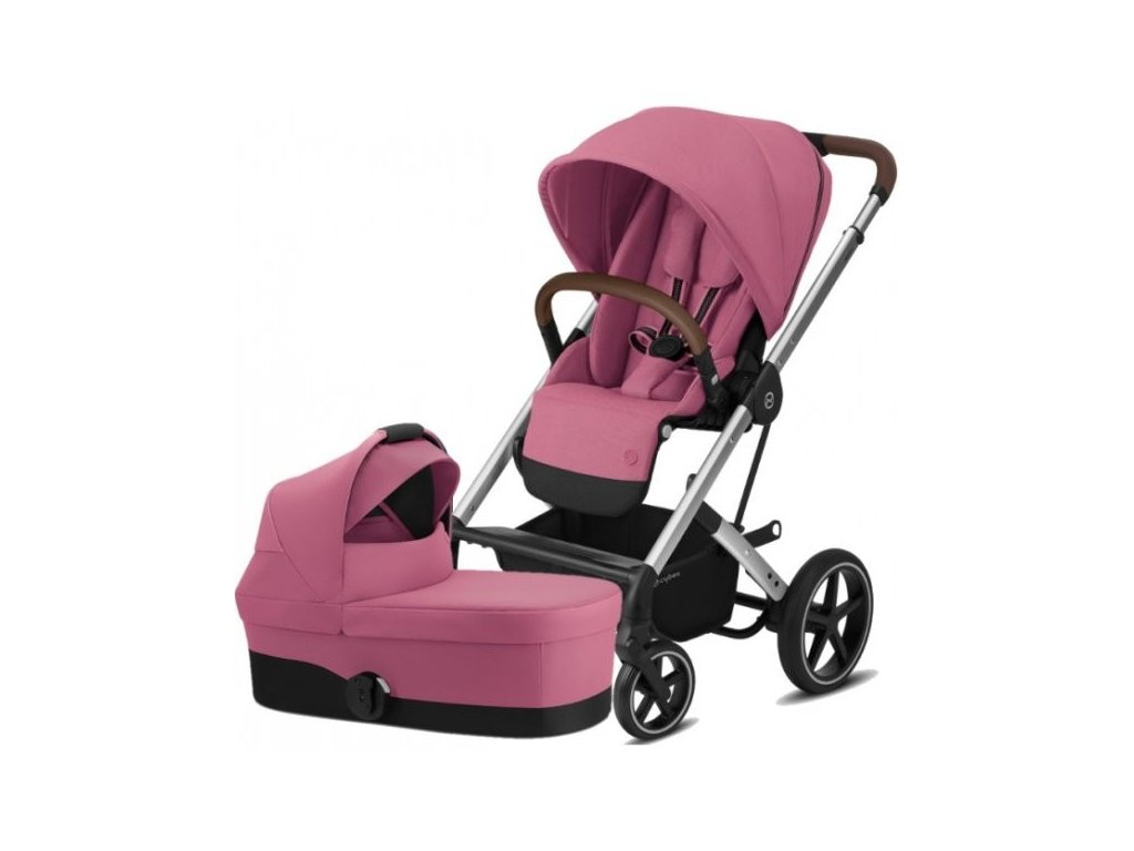 Cybex Balios S Lux Silver, Carry cot S 2021 - Magnolia Pink