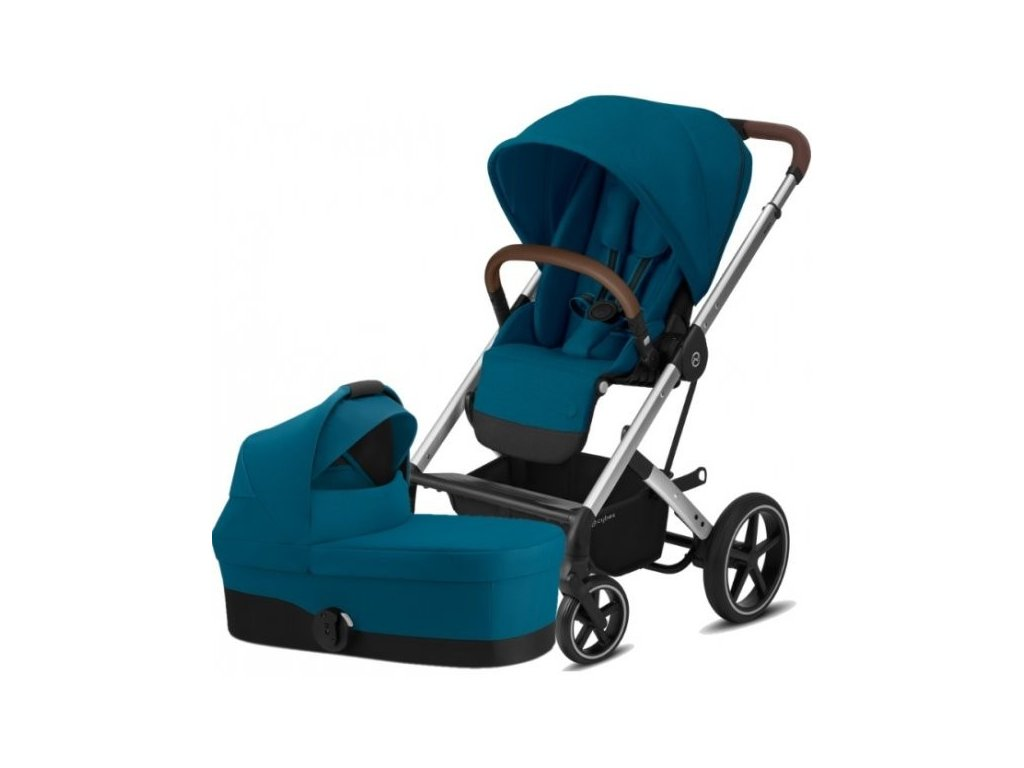 Cybex Balios S Lux Silver, Carry cot S 2021 - River Blue