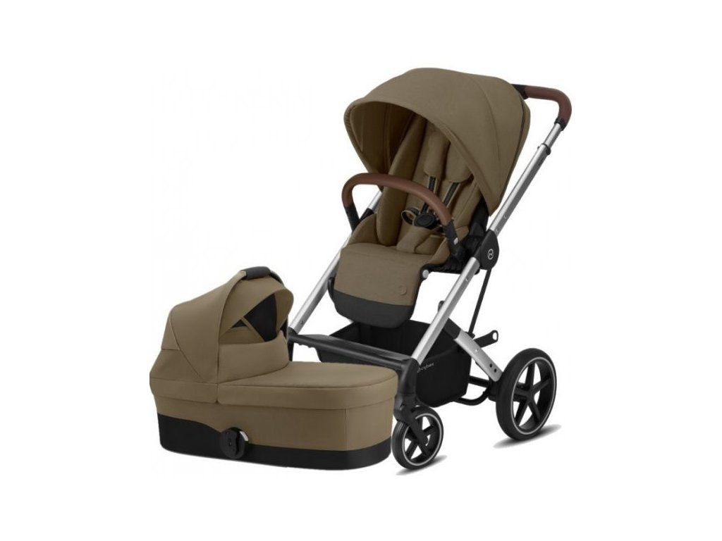 Cybex Balios S Lux Silver, Carry cot S 2021 - Classic Beige