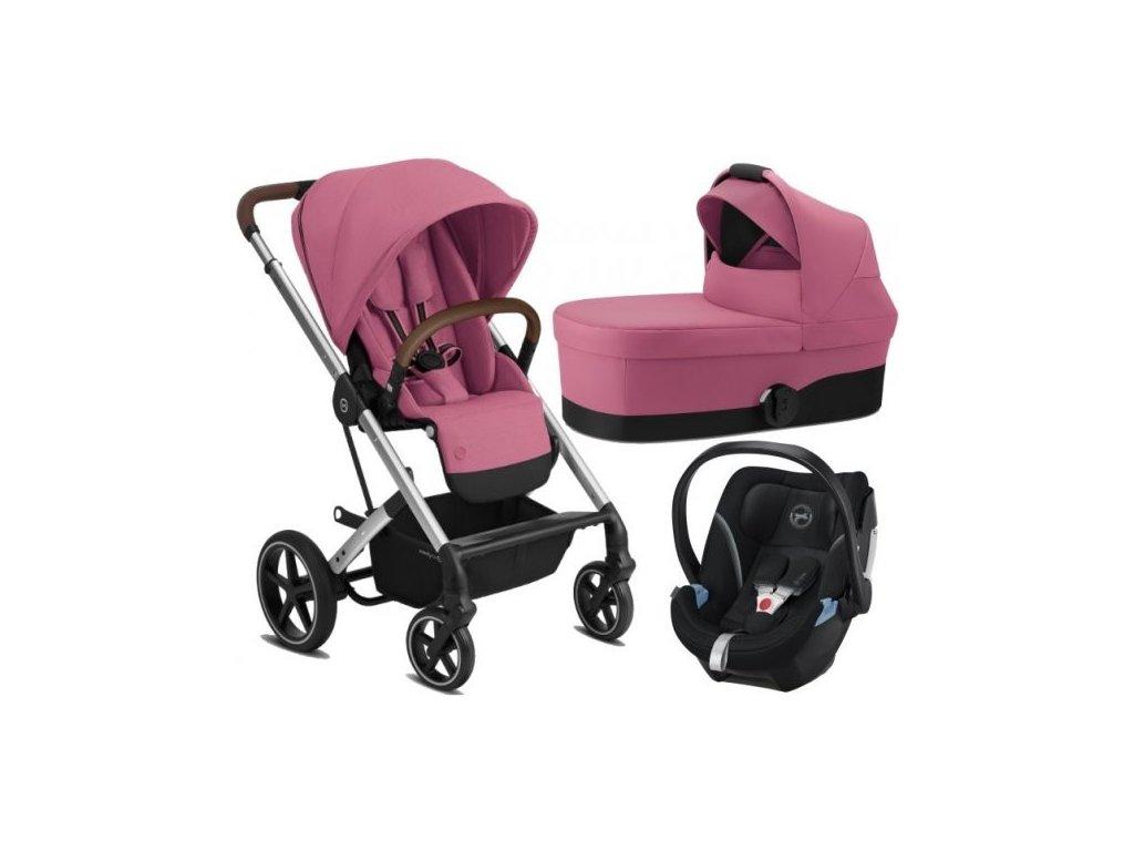 Cybex Balios S Lux SILVER - SET s autosedačkou 2021 - Magnolia Pink