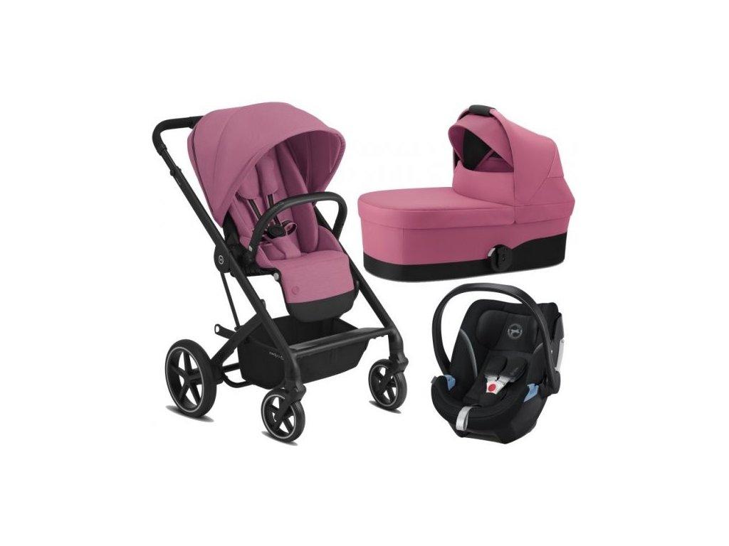 Cybex Balios S Lux BLACK - SET s autosedačkou 2021 - Magnolia Pink