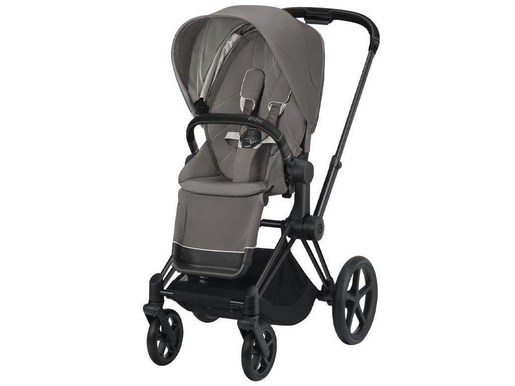 Kočárek CYBEX Priam Matt Black Seat Pack 2021 - Soho Grey