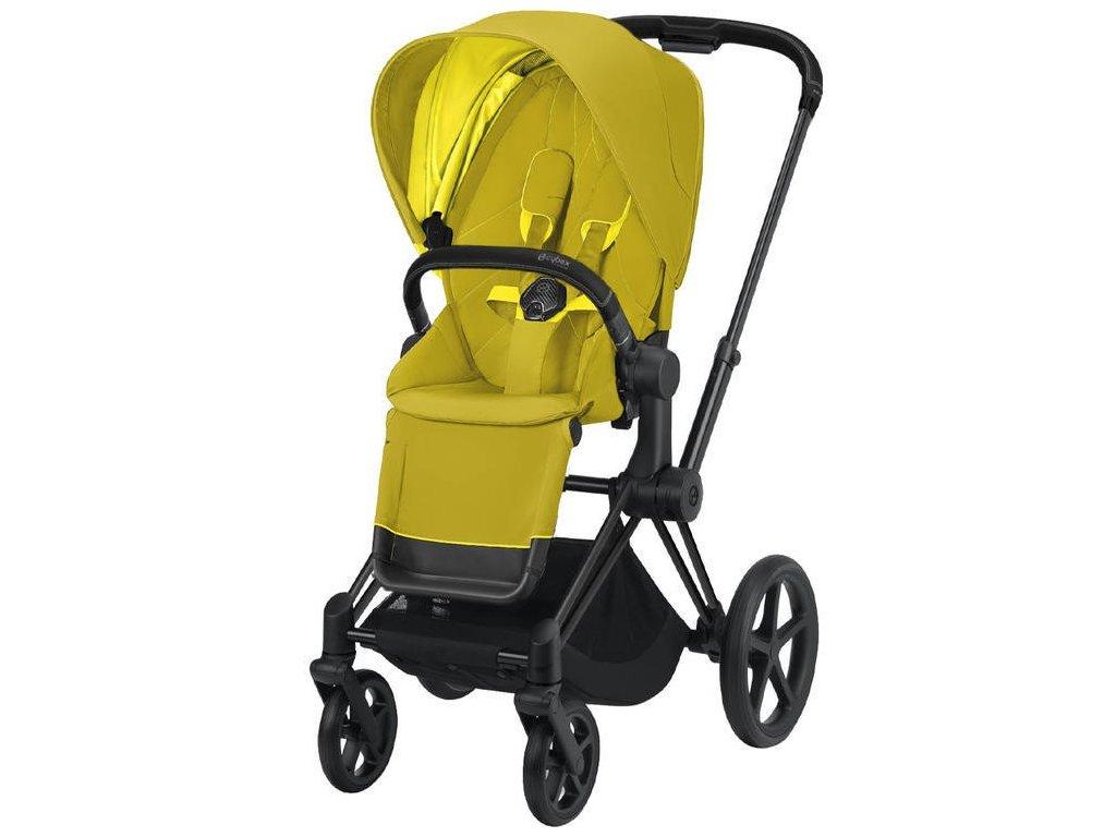 Kočárek CYBEX Priam Matt Black Seat Pack 2021 - Mustard Yellow