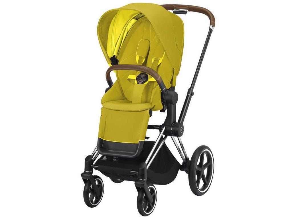 Kočárek CYBEX Priam Chrome Brown Seat Pack 2021 - Mustard Yellow