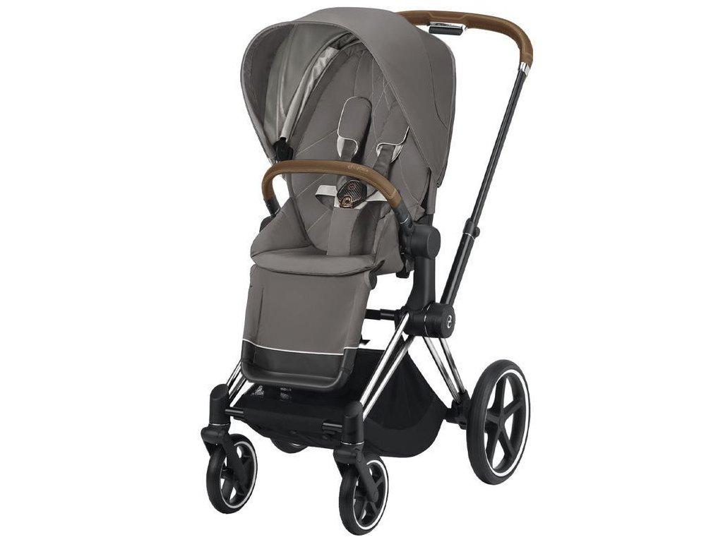 Kočárek CYBEX Priam Chrome Brown Seat Pack 2021 - Soho Grey