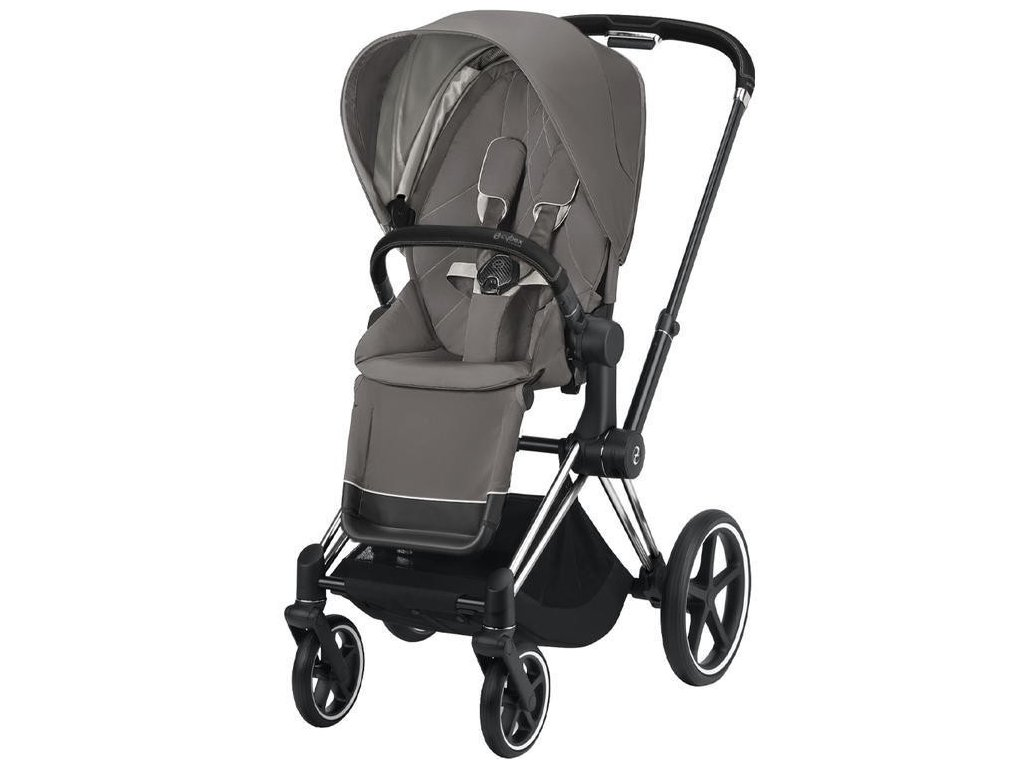 Kočárek CYBEX Priam Chrome Black Seat Pack 2021 - Soho Grey