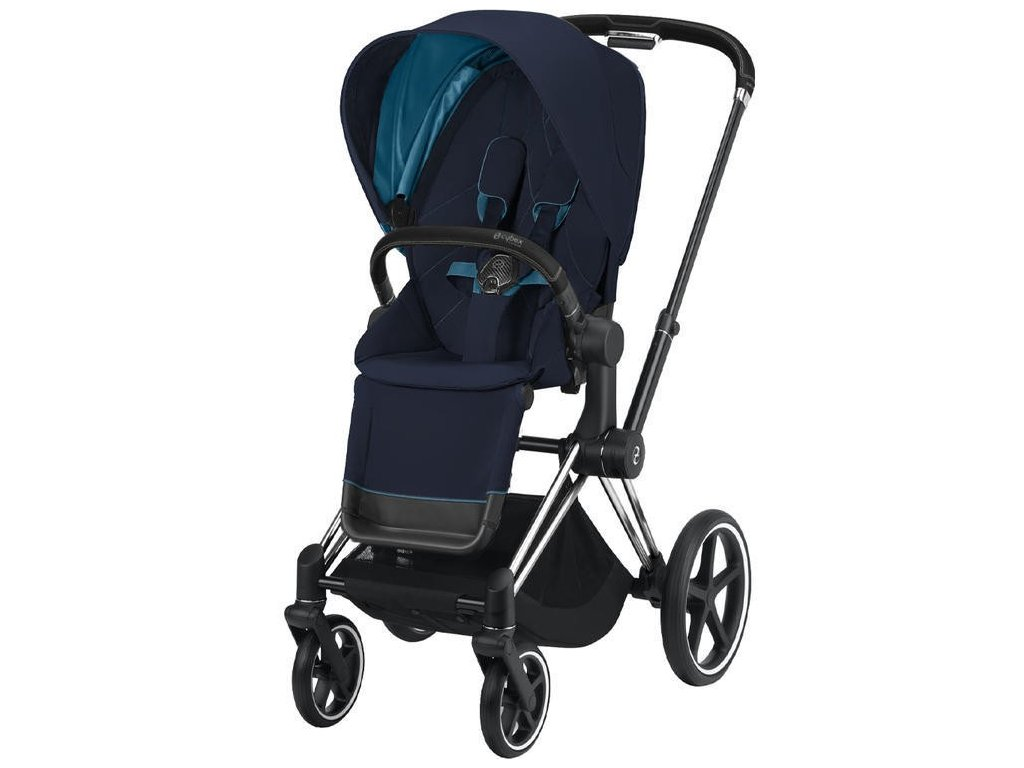 Kočárek CYBEX Priam Chrome Black Seat Pack 2021 - Nautical Blue