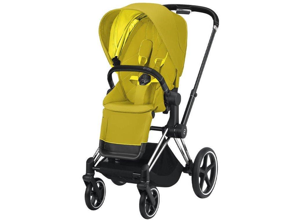 Kočárek CYBEX Priam Chrome Black Seat Pack 2021 - Mustard Yellow