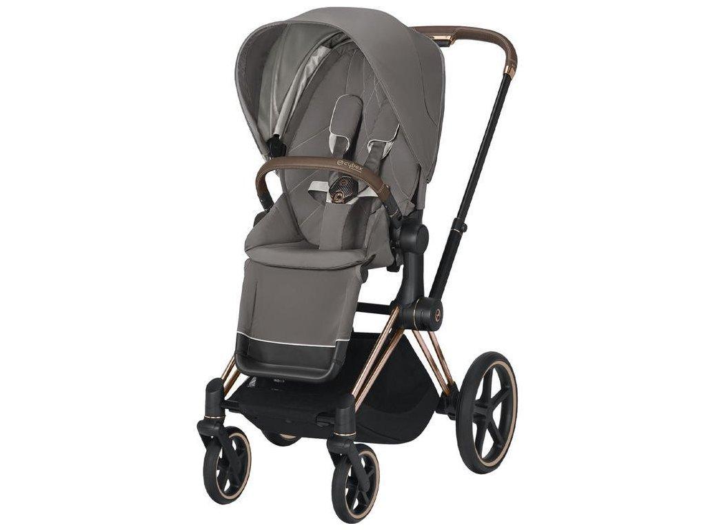 Kočárek CYBEX Priam Rosegold Seat Pack 2021 - Soho Grey