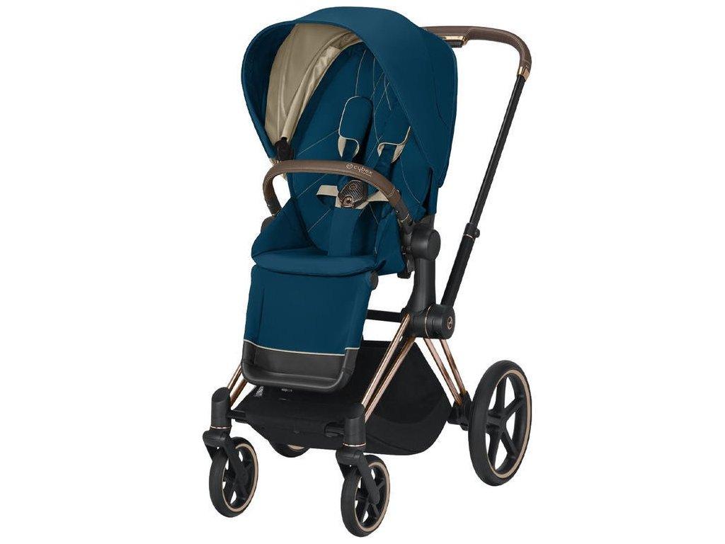 Kočárek CYBEX Priam Rosegold Seat Pack 2021 - Mountain Blue