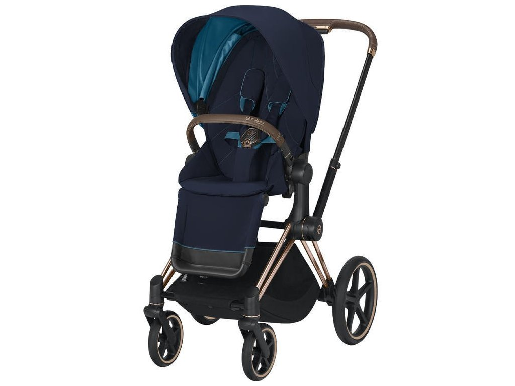 Kočárek CYBEX Priam Rosegold Seat Pack 2021 - Nautical Blue