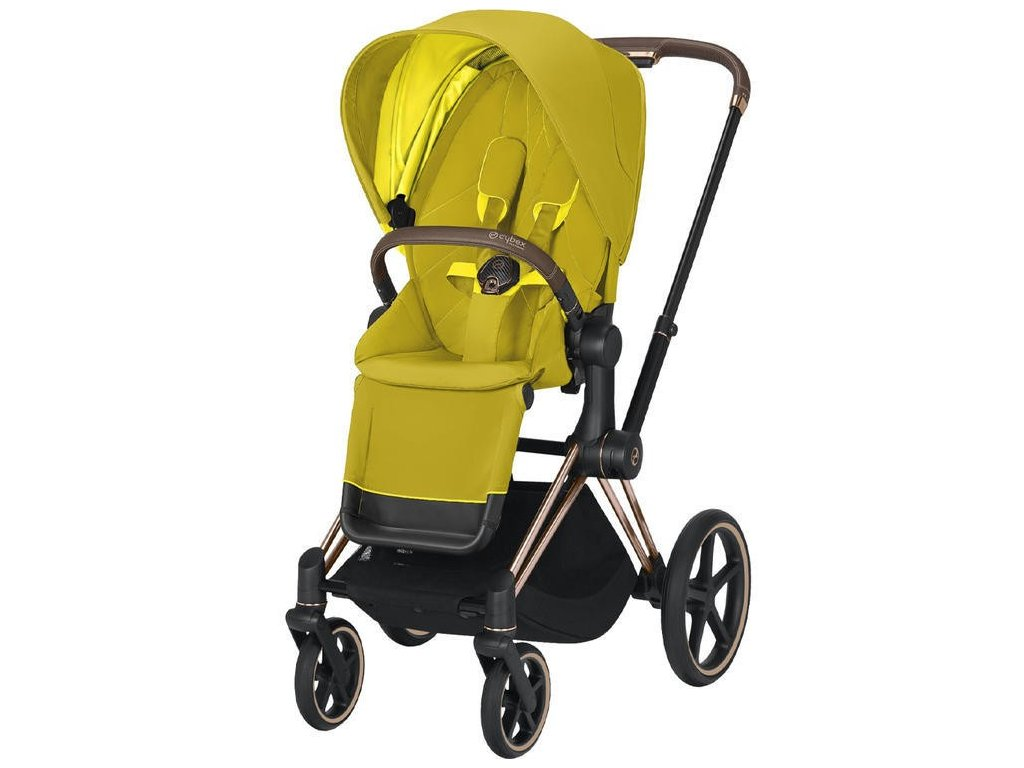 Kočárek CYBEX Priam Rosegold Seat Pack 2021 - Mustard Yellow