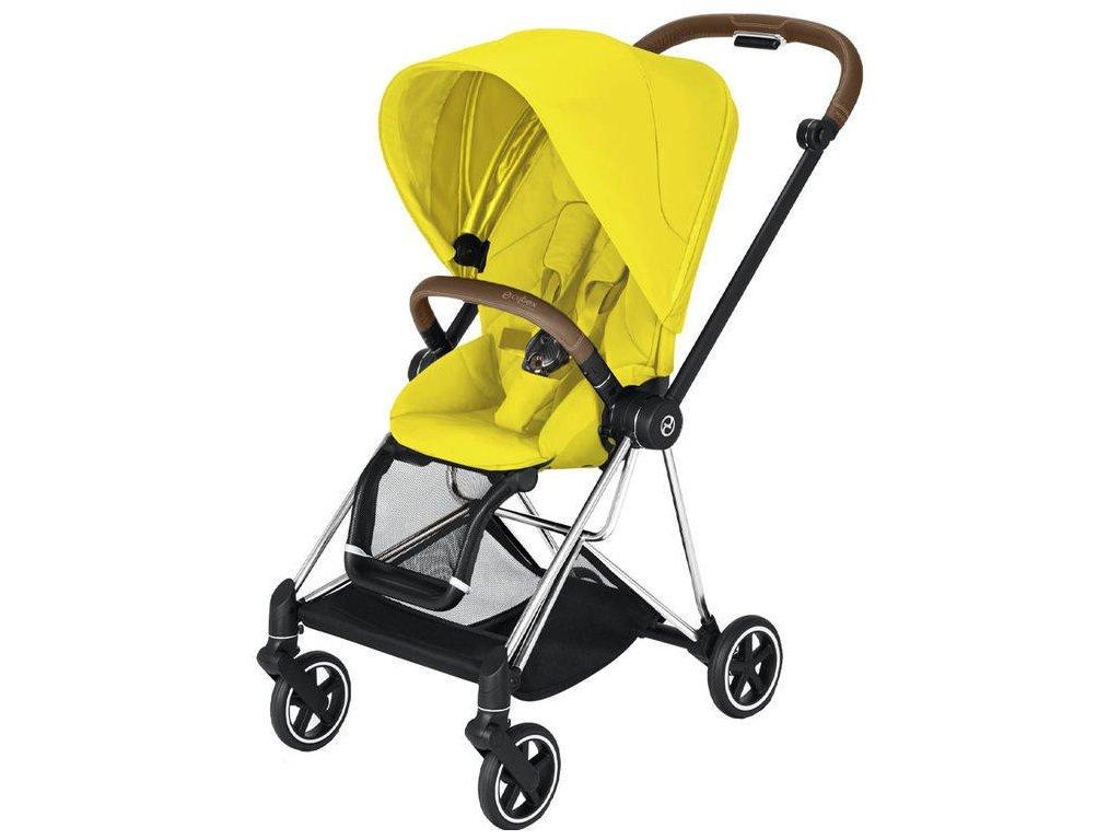 Kočárek CYBEX Mios Chrome Brown Seat Pack 2021 - Mustard Yellow