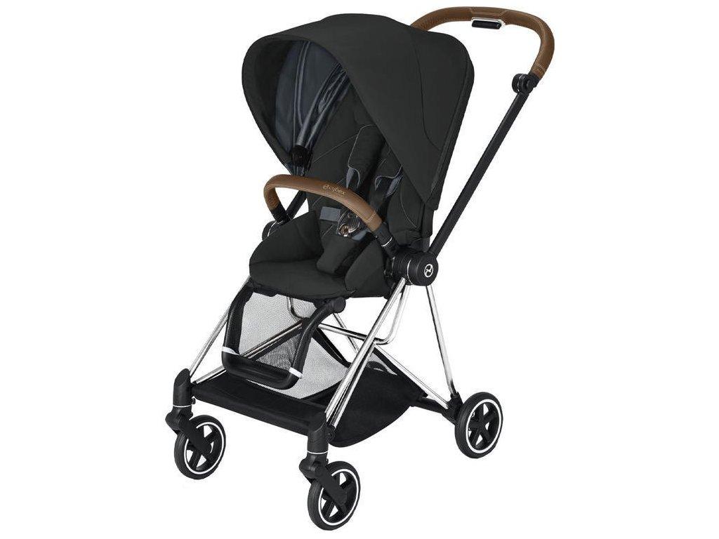 Kočárek CYBEX Mios Chrome Brown Seat Pack 2021 - Deep Black