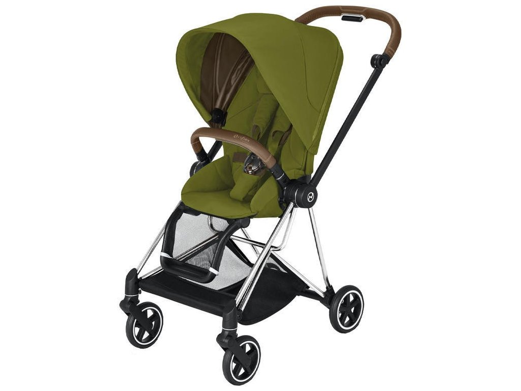 Kočárek CYBEX Mios Chrome Brown Seat Pack 2021 - Khaki Green