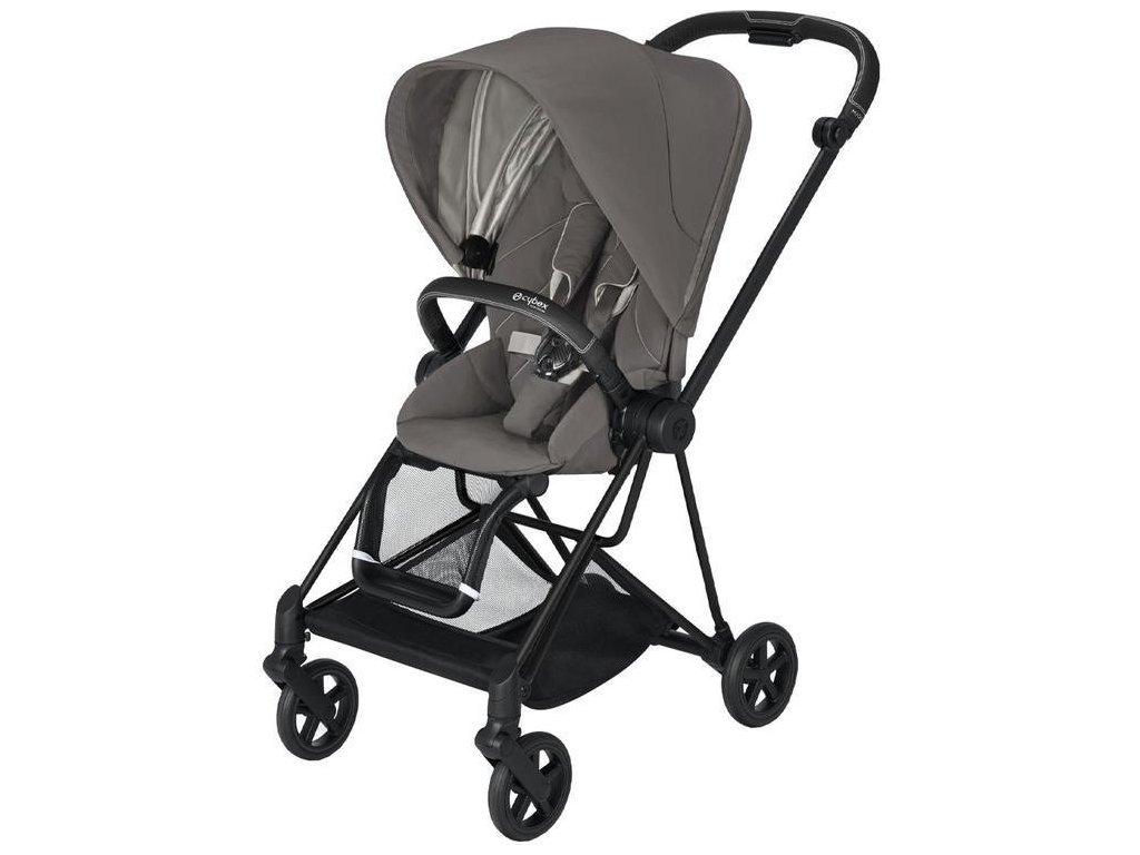 Kočárek CYBEX Mios Matt Black Seat Pack 2021 - Soho Grey